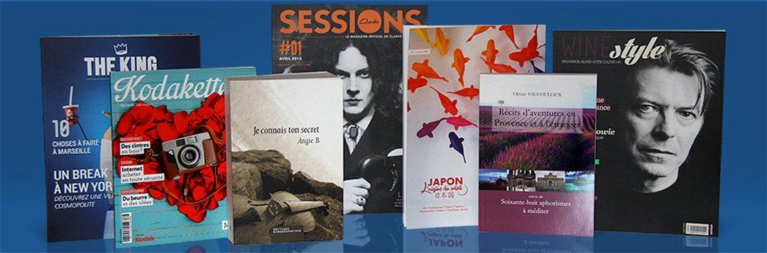 Livres imprimés chez DFS+ à Aix-en-Provence