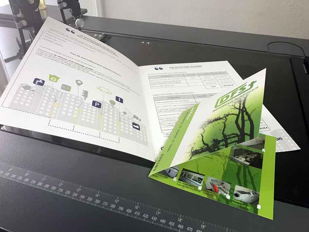 Dépliant plaquette à l'imprimerie DFS+ à Aix-en-Provence