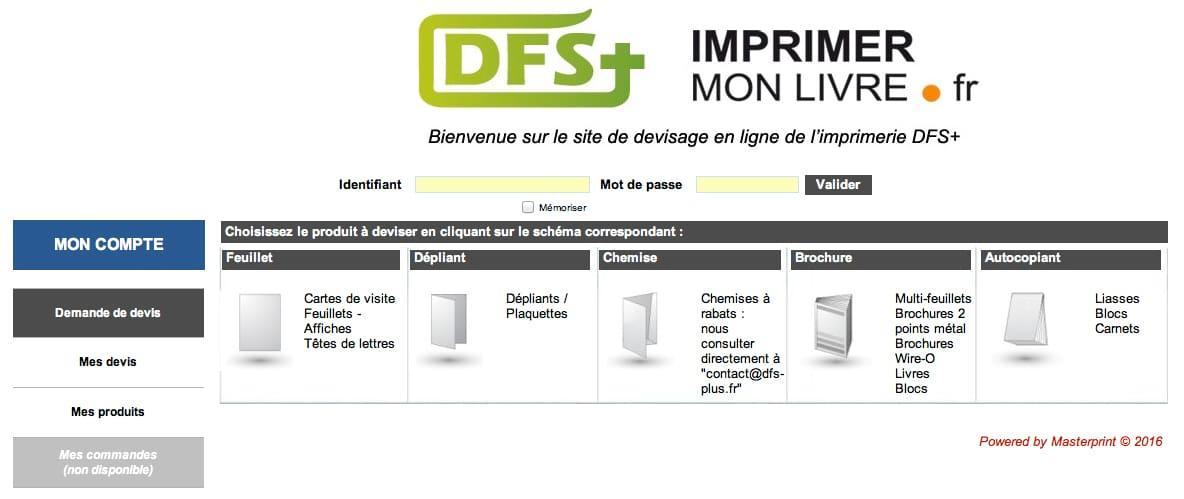 Obtenez Un Devis En Ligne Avec Loutil Web2Print De Limprimerie DFS